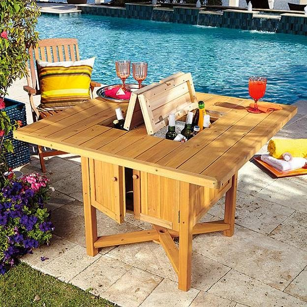 15 awesome and coolest coolers for Table with cooler in middle