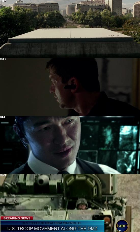 Olympus Has Fallen 2013 BluRay 720p 480p Dual Audio Hindi English Full Movie Download