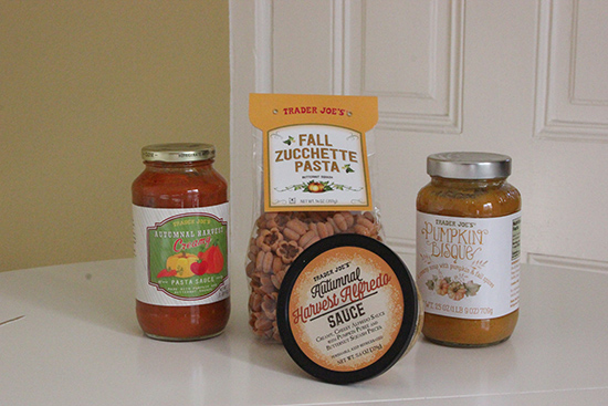 Trader Joe's Pumpkin Bisque and Pasta | Fall Haul | Will Bake for Shoes