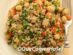 Salada de grão-de-bico light rápida