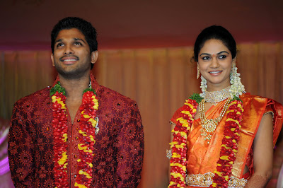 allu arjun sneha reddy reception