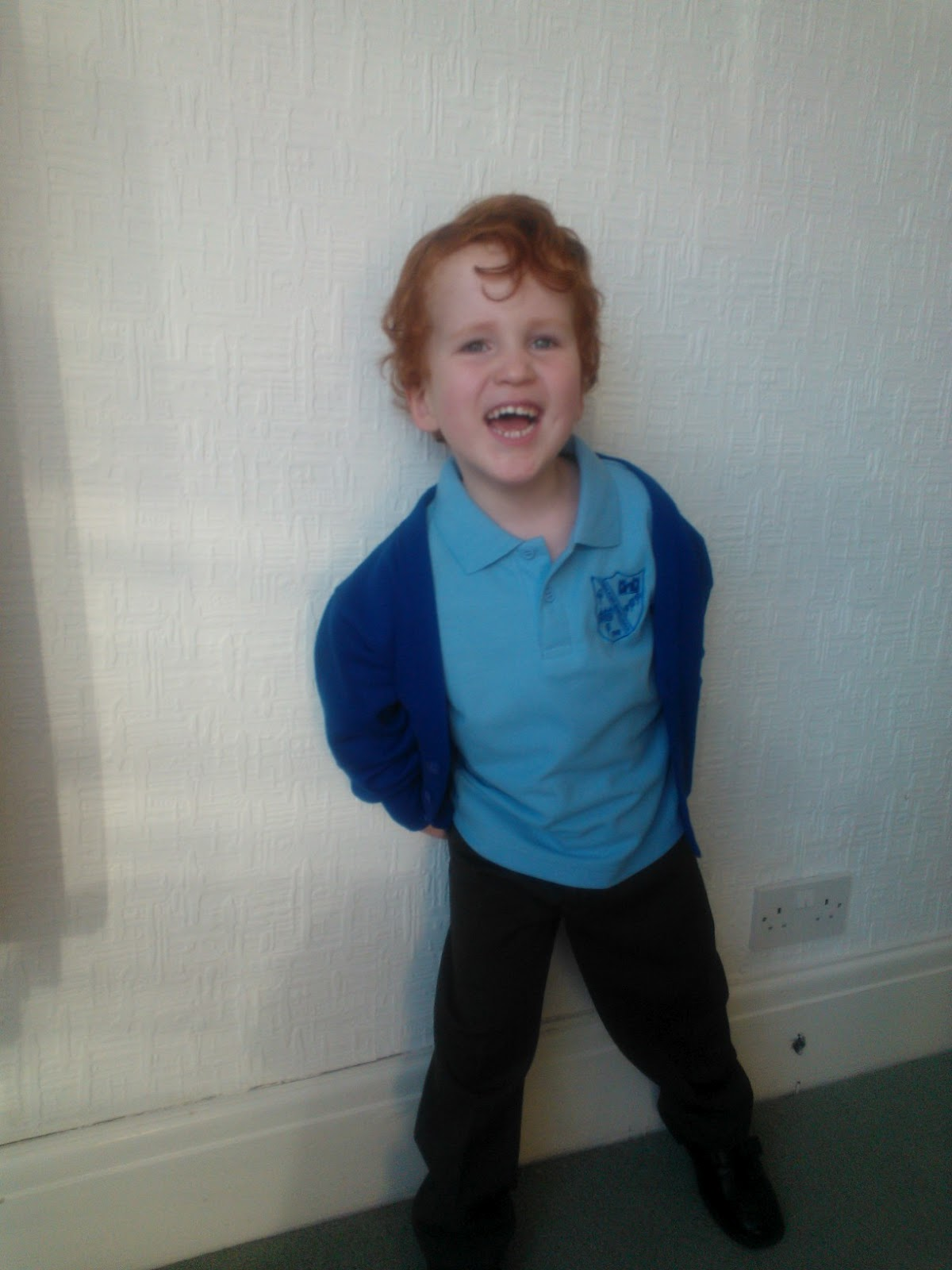 Ieuan in school uniform - the importance of wearing school uniform