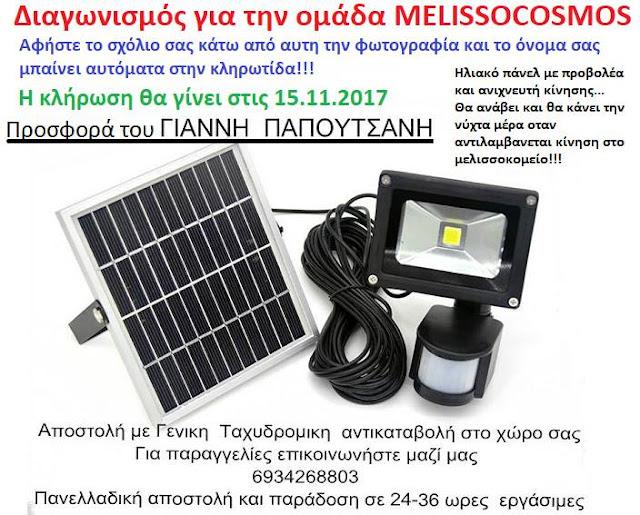 Διαγωνισμός στην ομάδα MELISSOCOSMOS στο Facebook