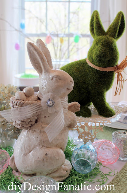 Easter, Spring, Tablescape, cottage, Cottage style,