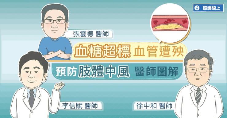 血糖超標,血管遭殃,預防肢體中風醫師圖解