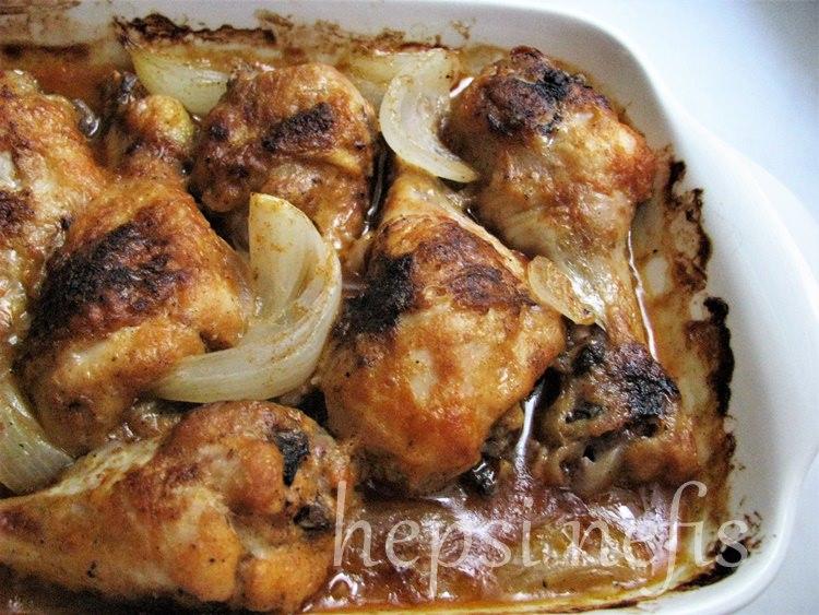 Fırında acılı-ekşili tavuk