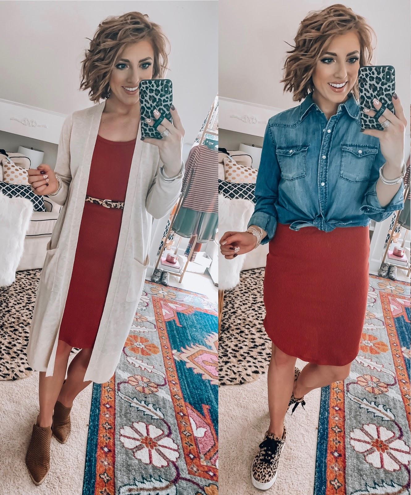 Target Fall Finds: Part Three - A New Day Ribbed Dress Styled Three Ways - Something Delightful Blog #FallStyle #TargetStye