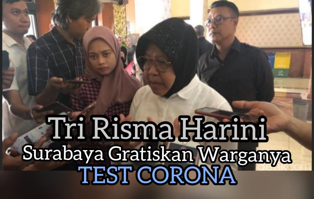 Walikota Surabaya Bebaskan Warganya Test Corona