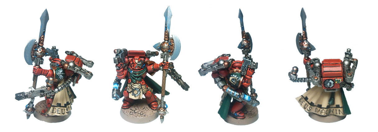 From My Mental Fatigue Following The Call To Arms Tournament Ive Spent Last Couple Of Evenings Working On A Techmarine For Dark Angels Force