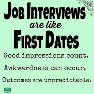 job interviews are like first dates