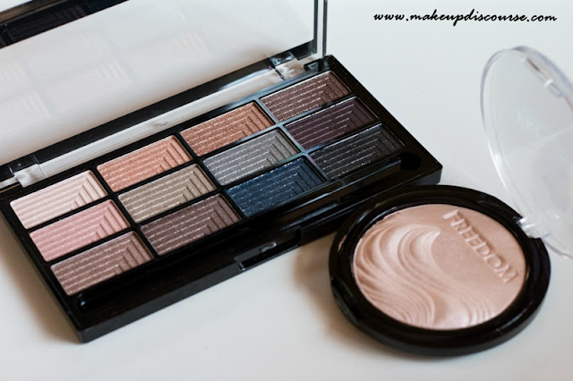 Freedom Makeup London in India | Freedom Makeup London Romance and Jewels Eyeshadow Palette & Brighten Pro Highlight