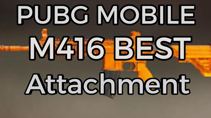 Pubg Mobile M416 Attachment ,Weapon Stats and M416 all skins!