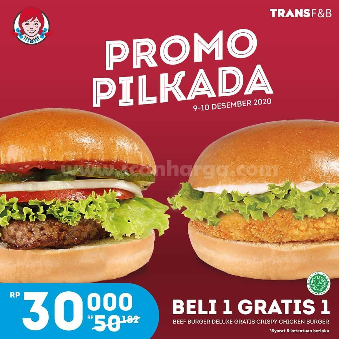 Wendys Promo Pilkada - Beli 1 Gratis 1