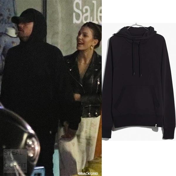 Leonardo DiCaprio in black Madewell hoodie