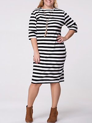 https://www.fashionmia.com/Products/crew-neck-striped-half-sleeve-plus-size-shift-dress-163503.html
