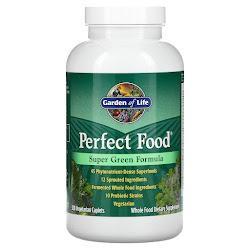 Garden of Life, Perfect Food, Super Green Formula, 300 растительных капсуловидных таблеток