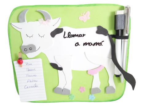 Porta Notas de Vaca para la cocina
