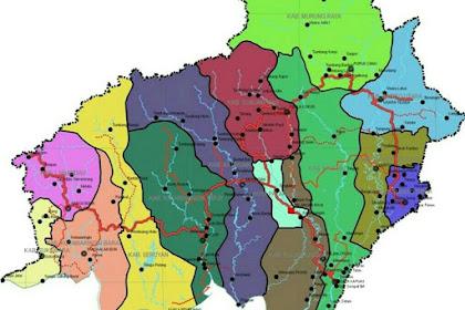 Inilah 5 Kabupaten Terbesar dan Terpadat di Provinsi Kalimantan Tengah Indonesia