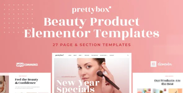 Best Cosmetic and Beauty Products Shop Elementor Template Kit
