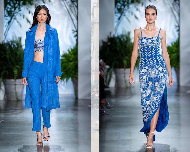 Синяя мозаика модные цвета весна-лето 2020 2