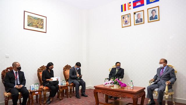 Pertemuan Bilateral Antara Indonesia Kamboja Terkait Wujud Solidaritas Hadapi Covid-19