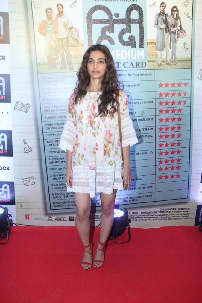 Beautiful Mumbai Model Radhika Apte Photo Shoot In Long Hair White Dress