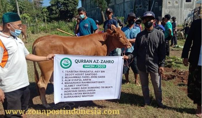 Yayasan Yatim Piatu dan Dhuafa Az-Zahro Desa Locare, Potong Hewan Qurban Sebanyak 6 Ekor Sapi dan 31 Ekor Kambing