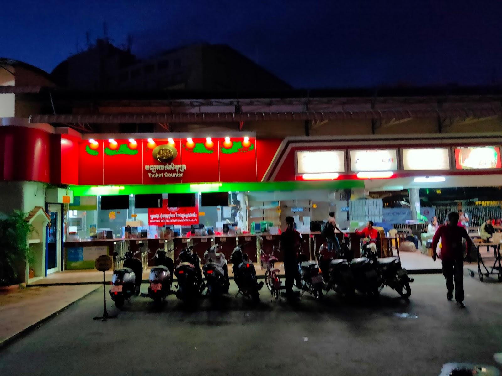 bus stop phnom penh
