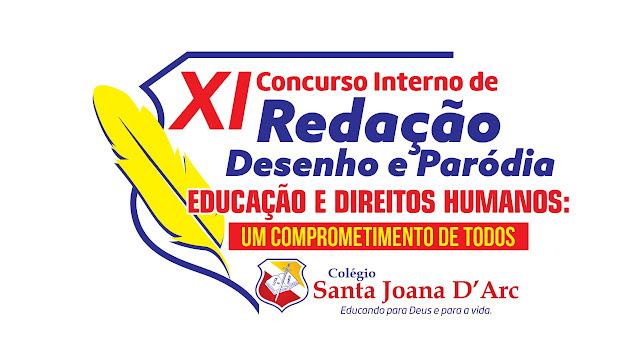 Alunos do Colégio Santa Joana D'Arc participam do XI Concurso de Paródia, Redação e Desenho.