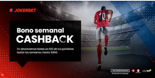 JOKERBET bono cashback semanal hasta 500€