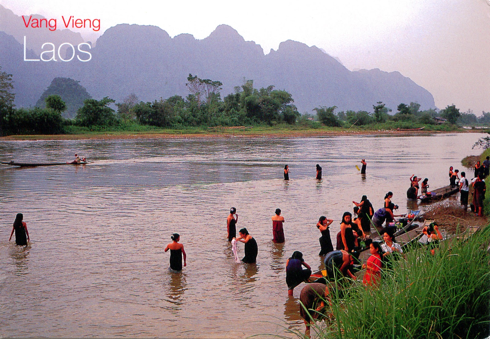 World come to my home 0921 laos vientiane province for Domon river guesthouse vang vieng