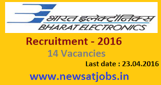 bharat+electronics+ltd+recruitment+2016