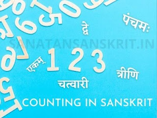 1,2,3 and various no. are there & some no are written in sanskrit & then in large font written as Counting in Sanskrit