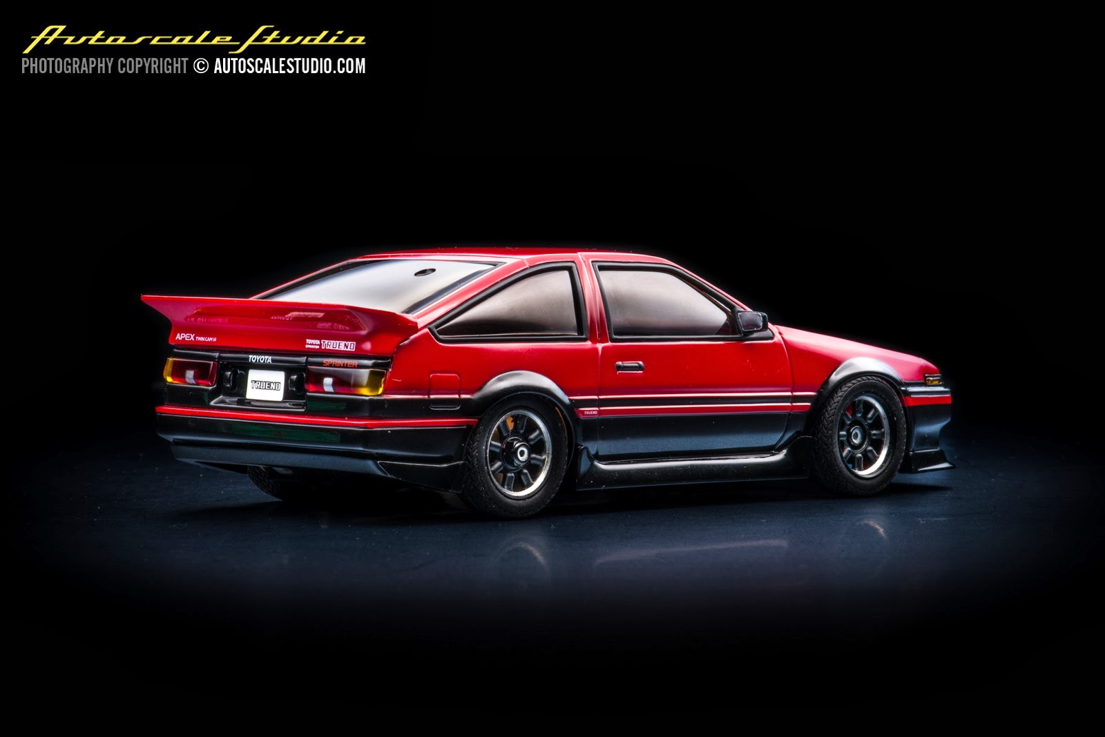 mzp410bkr toyota sprinter trueno ae86 aero version red autoscale studio. Black Bedroom Furniture Sets. Home Design Ideas