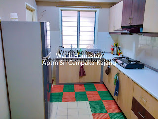 Warih-Homestay-Sri-Cempaka-Kitchen-With-2-Doors-Fridge