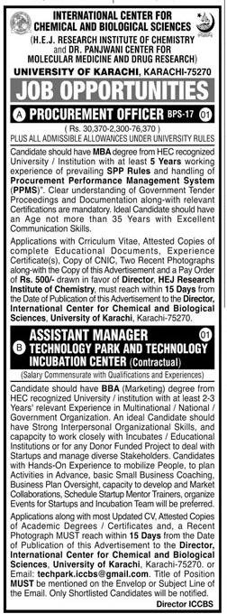 Latest UOK Jobs 2021, University of Karachi Advertisement