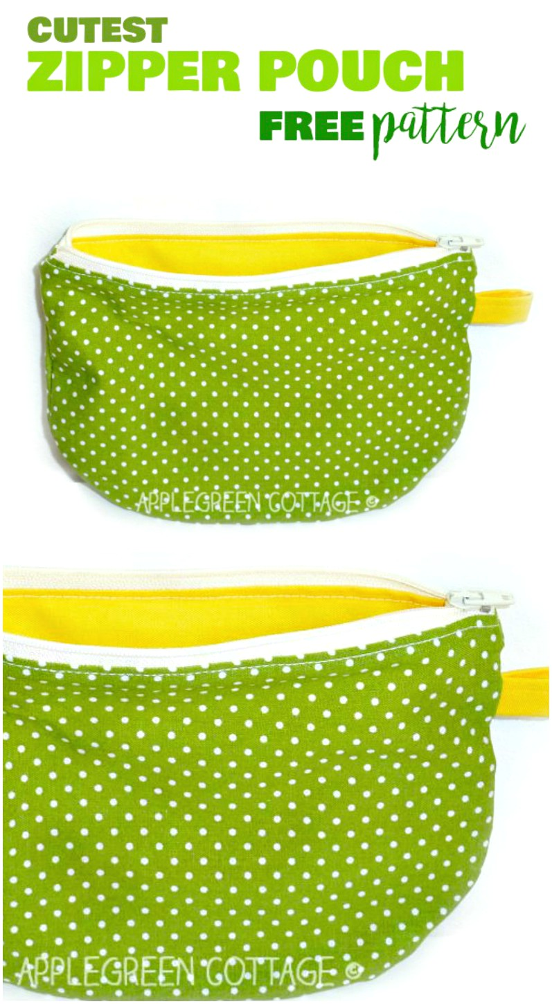 Zipper Pouch Tutorial - With A Free Template