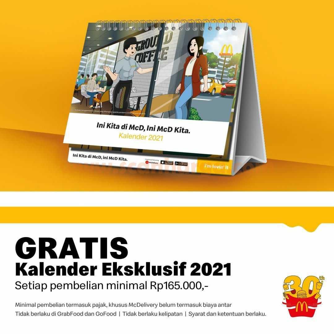 McDonalds Promo GRATIS Kalender Eksklusif 2021