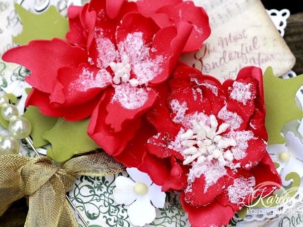 Foamiran Poinsettia Tag