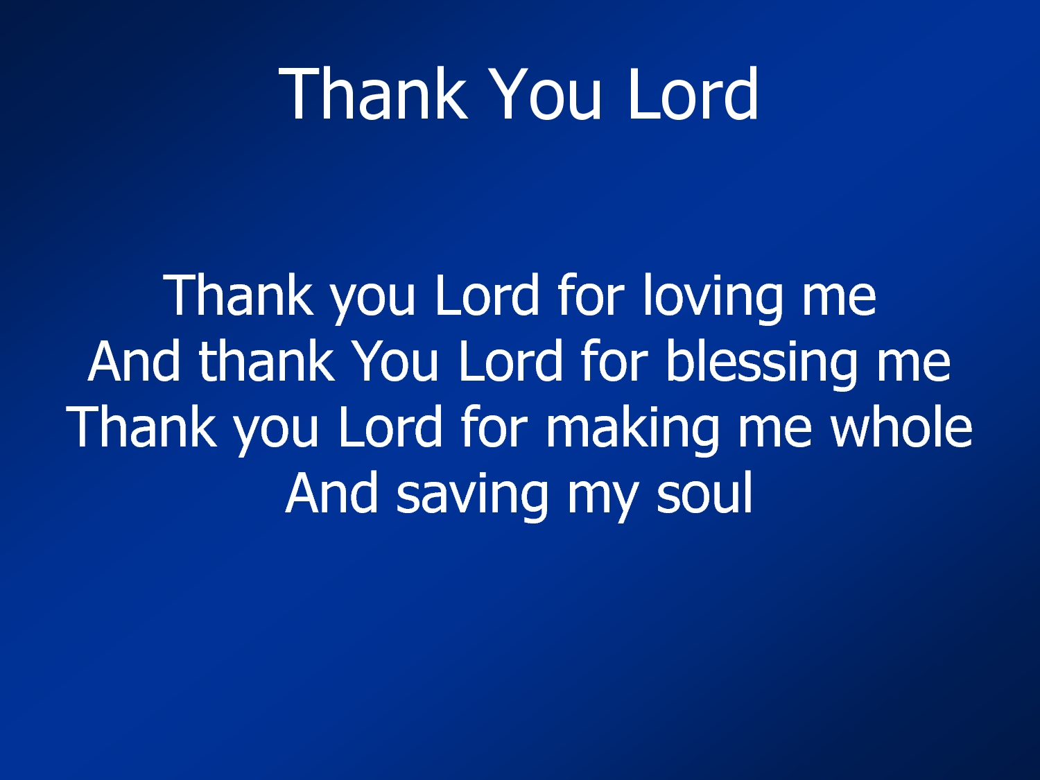 I Just Want To Thank You, Lord. ♥