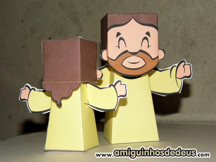 Paper Toy Amiguinhos de Deus  Amiguinhos de Deus