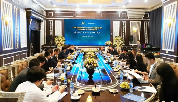 Lễ ký kết của Sunshine Group và Samsung