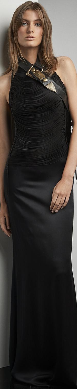 Ralph Lauren Silviana Fringe Bodice Gown