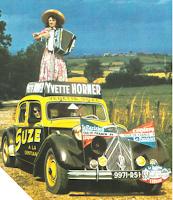 Yvette Horner sur la Citroën Traction C15