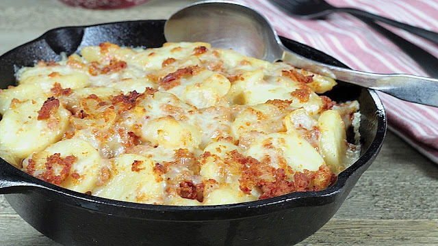 Cheesy Linguica and Potato Bake
