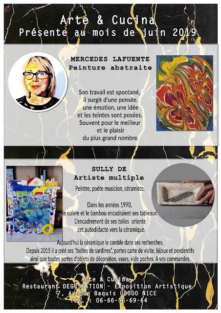 Exposition de peinture abstraite à Nice