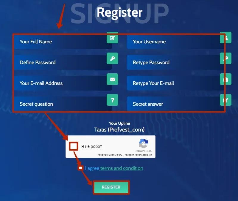 Регистрация в Forex Profits Ltd 2