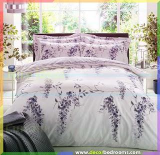 ديكور لحاف سرير مختلف الألونا والأشكال