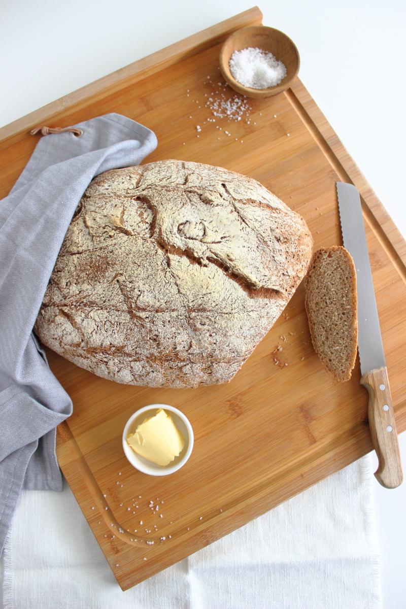 Brotbacken, Backliebe, selber Brot backen ganz einfach, simple Brotrezepte, Vollweizen Krustenbrot, Südtiroler Foodblog kebo homing