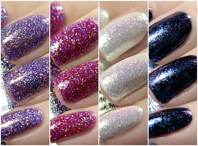 Swatches of the My Little Pony by China Glaze Color is Magic! Collection
